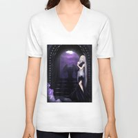 selena gomez V-neck T-shirts featuring Vampire Selena by Asilh87