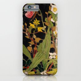 Tom Thomson - Moccasin Flower, Orchids, Algonquin Park - Canada, Canadian Oil Painting - Group of Se iPhone Case