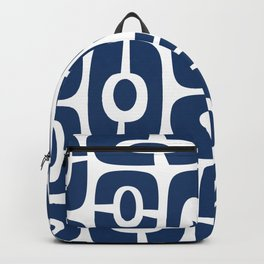 Mid Century Modern Cosmic Abstract 241 Navy Blue Backpack