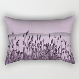 Purple Nature by the sea Rectangular Pillow