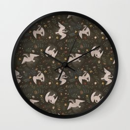Swan Fairies Wall Clock