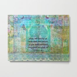 Emerson Inspirational Quote Metal Print