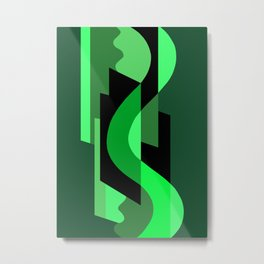 SUISSE - Art Deco Modern: NIGHT VISION Metal Print