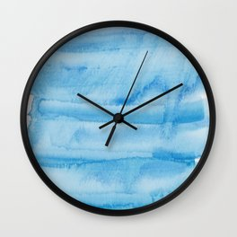 3  |  190408 Blue Abstract Watercolour Wall Clock