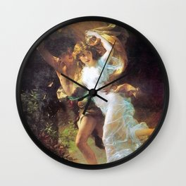 The Storm Painting By Pierre Auguste Cot Wall Clock