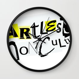 Artless Nonculture (Ransom) Wall Clock