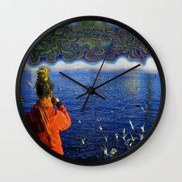 Luka In The Sky Wall Clock