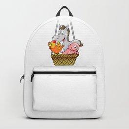 Cartoon Animal Farm Adventure Backpack