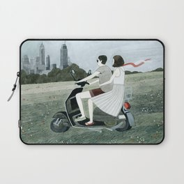 Couple On Scooter Laptop Sleeve