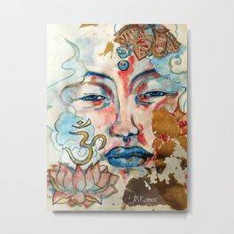 Buddah, lotus and OM Metal Print
