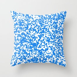 Small Spots - White and Dodger Blue Throw Pillow
