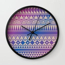 Aztec Pattern No. 15 Wall Clock