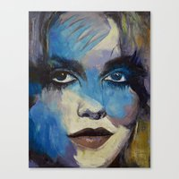 goth Canvas Prints featuring Goth Girl by Michael Creese