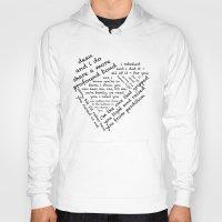 destiel Hoodies featuring Quotes of the Heart - Destiel (Black) by fairy911911
