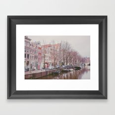 Boat houses Framed Art Print