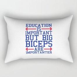 Big Biceps Gym Quote Rectangular Pillow