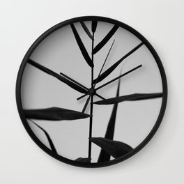 Reach to the Stars at Sunset (Black and White) Wall Clock