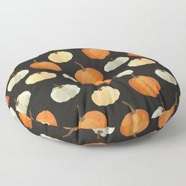 Orange yellow gray black watercolor pumpkin pattern Floor Pillow