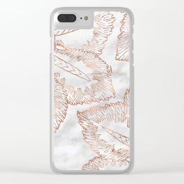 Mandala whimsy - rose gold & marble Clear iPhone Case
