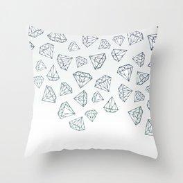 Diamond Shower Throw Pillow