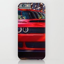 Hugger Orange Challenger SRT Hellcat MOPAR Muscle Car iPhone Case