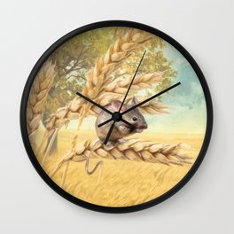 Little Field Mouse Wall Clock