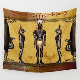 Horus Egyptian deities. Wall Tapestry