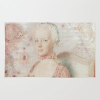 marie antoinette Area & Throw Rugs featuring Marie Antoinette 7up by Sara Dowling
