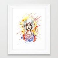 tokyo ghoul Framed Art Prints featuring Tokyo Ghoul - Juuzou Suzuya by Kayla Phan