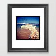 Two Oceans Meet Framed Art Print