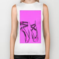 ballerina Biker Tanks featuring Ballerina by Art Corner