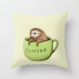 Sloffee Throw Pillow