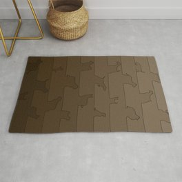 Brown Dog Ombre Rug