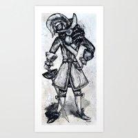 captain hook Art Prints featuring captain Hook  by Tricia Kibler