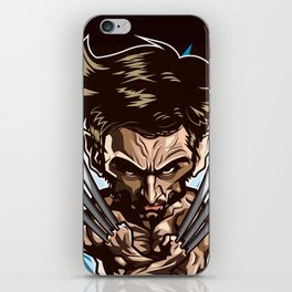 Hugh Jackman as Wolverin Vector Caricature iPhone Skin