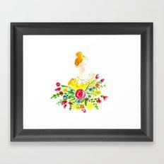 Flowergirl in Watercolor Framed Art Print