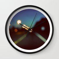 drive Wall Clocks featuring Drive by elle moss