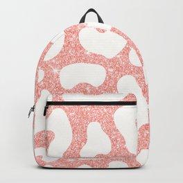 Pastel Pink White Leopard Skin Backpack