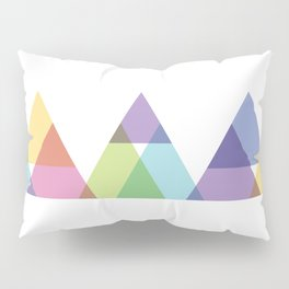 Fig. 029 Rainbow Triangles Geometric Mountains Pillow Sham