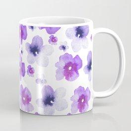 Modern purple lavender watercolor floral pattern Coffee Mug