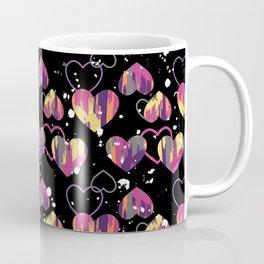 Graffiti Stripe, Spatter Hearts Coffee Mug