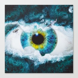 The eye of the sea by GEN Z Canvas Print