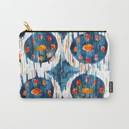 BLUE CIRCLES IKAT Carry-All Pouch