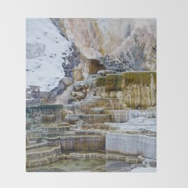 Yellowstone Hot Springs Throw Blanket