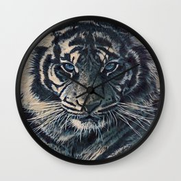Tiger Eyes - by Julio Lucas  Wall Clock