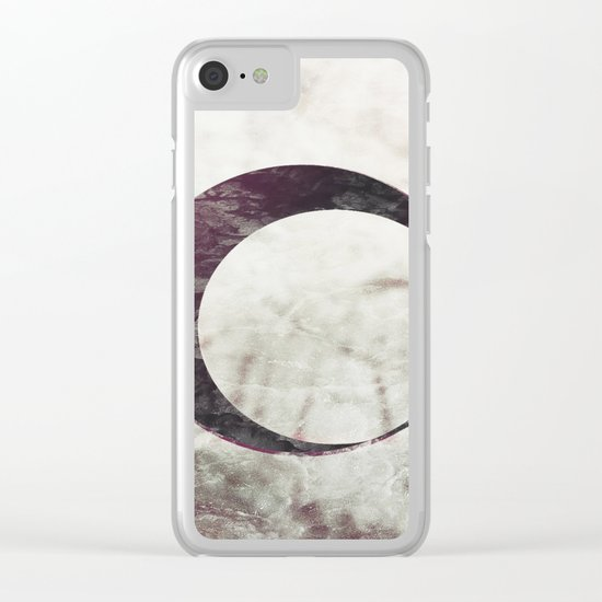Abstract Moons #faded Clear iPhone Case