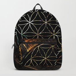 Flower of Life and Zodiac in Cosmic Space Backpack