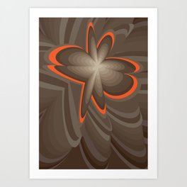 Wood flower 2 Art Print