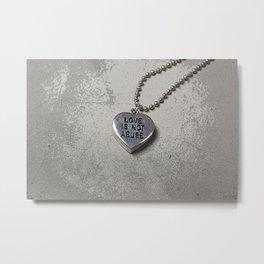 Love Is Not Abuse Metal Print