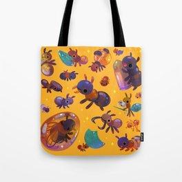 Ants - yellow Tote Bag